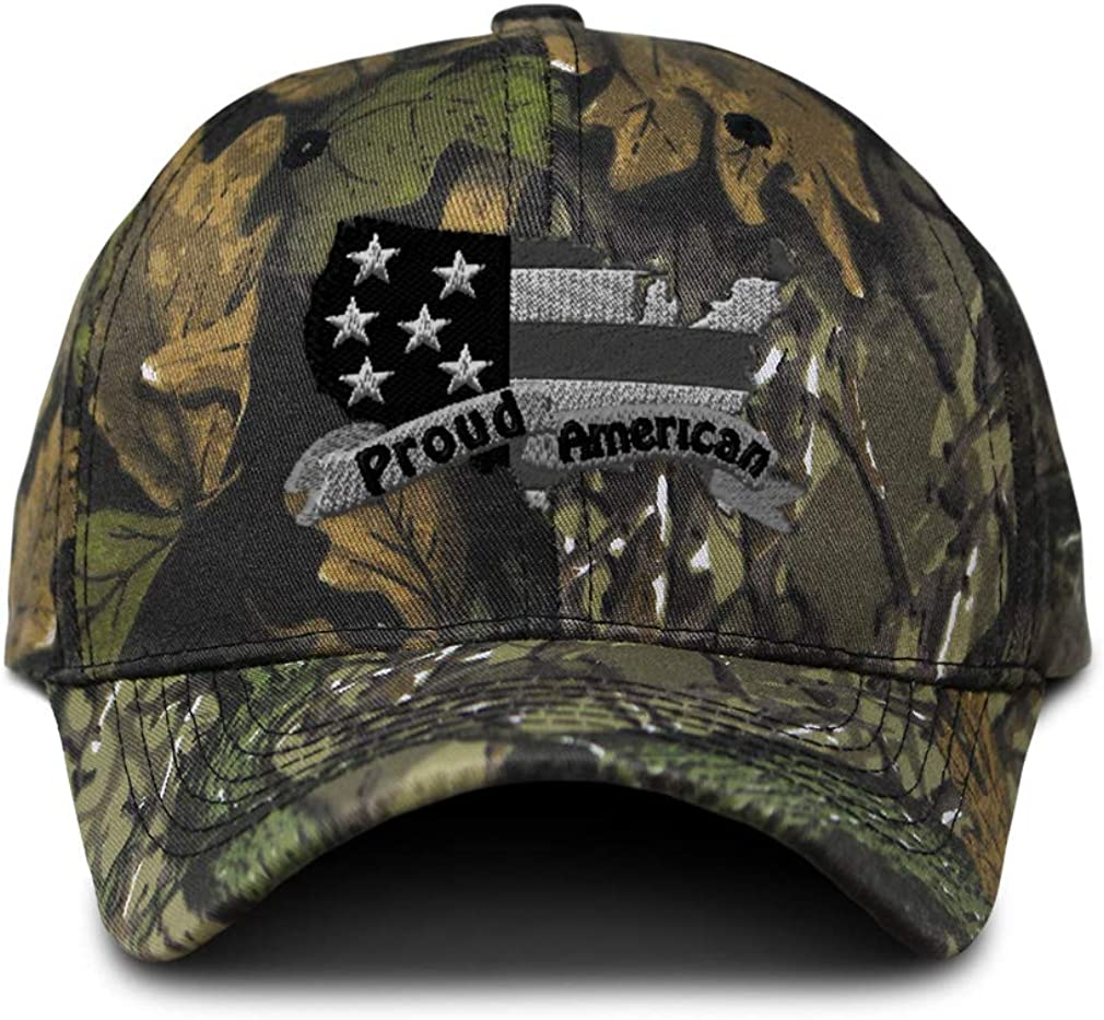 Camo Baseball Cap Proud American B Embroidery Hunting Dad Hats for Men & Women