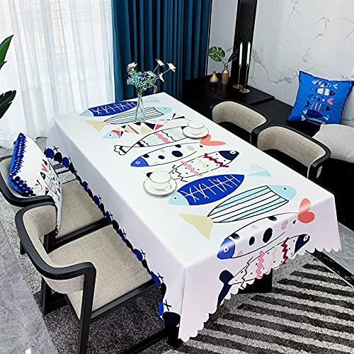 XXDD Mantel de Personalidad Simple decoración del hogar Cubierta de Mesa de Banquete de Boda Mantel de Mesa Impermeable decoración A18 140x140cm