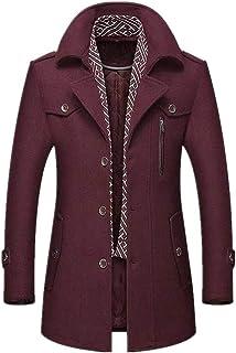 Cappotto da uomo invernale lungo sciarpa maschile Trench Coat