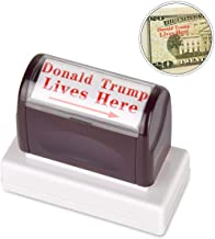 innissunny Donald Trump Lives Here Stamp,Self Inking Rubber Stamp with Red Ink and Arrow (RED)