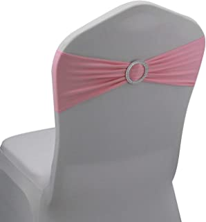pink chair bows