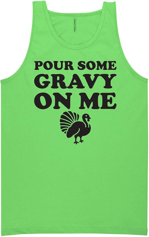 Pour Some Gravy On Me Neon Green Tank Top - XX-Large