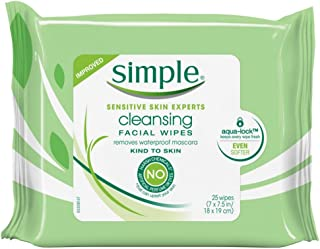 Simple Cleansing Facial Wipes 25 Count (6 Pack)