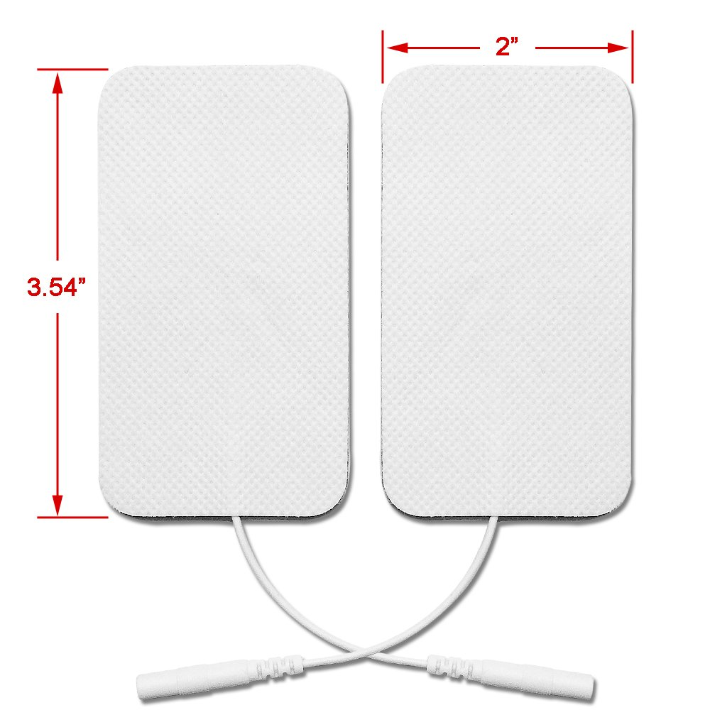 Premium Reusable TENS Unit Replacement Electrode Pads - Combo 12-Pack Self-Adhesive Electrodes Patches for TENS/EMS Massage Therapy