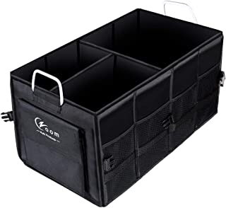 Czoom Car Trunk Organizer for SUV, Truck, Auto, Vehicle, Minivan, Home - Heavy Duty Portable Collapsible Cargo Storage - Durable Construction - Multi Compartments Cargo Carrier Caddy (Black)