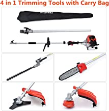 MAXTRA 18-Inch 26cc Gas Pole Hedge Trimmer Cordless Multi-Position Telescoping Trimmer with 3.6 ft Extension Pole Attachment Capable for Pole Saw Weed Brush Eater