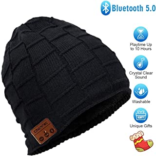 HONGYU Fashion Wireless Bluetooth Beanie hat Headphone Winter Warm Soft Knit Cap with Wireless Headphone Speaker Mic Hands...