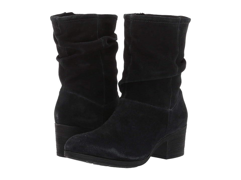 Rockport Danii Slouch Boot (Black Oil Velour) Women