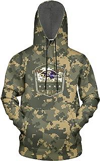 YEASHEER Men's 3D Printed Athletic Hoodie Ultra Soft Winter Pullover Sweater Hooded Sweatshirt