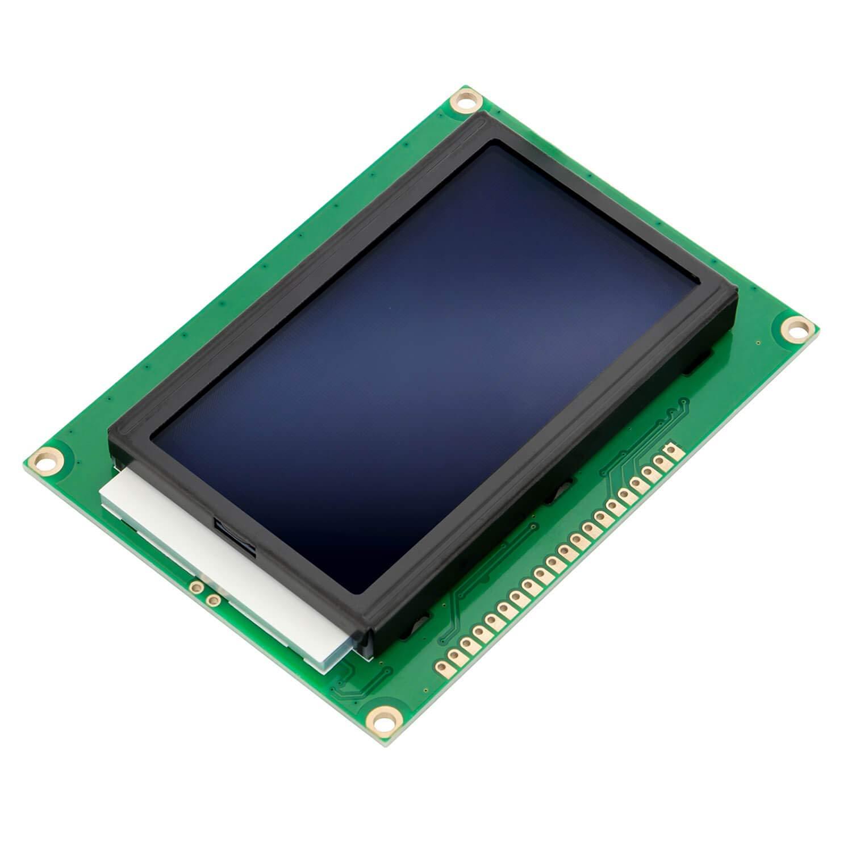AZDelivery LCD Display 128 x 64 pixeles 12864 Display KS0108/KS0107 con Fondo Azul y Caracteres Blancos compatible con Arduino con E-Book incluido!