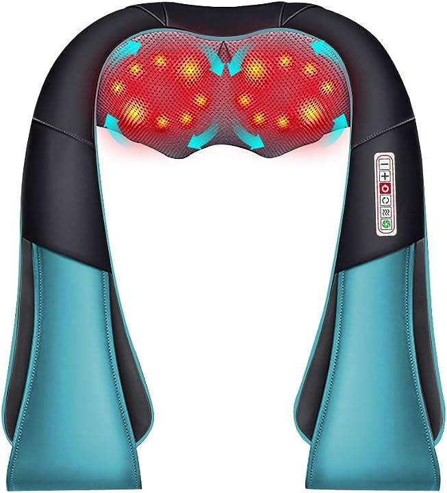 Massaggiatore cervicale con funzione di riscaldamento, massaggiatore elettrico yaasier B08P78KNJ6