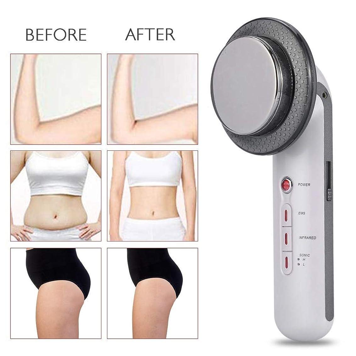ロータリー重々しい邪悪な1つの脂肪質の取り外し機械に付き3つ、マッサージャーを細くする減量ボディ、セルライトの減少装置、皮のきつく締まること、減少の減量超音波減量、EMSの赤外線ライト振動