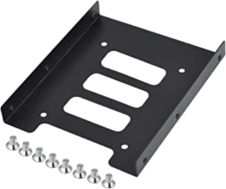 SSD Holder Hard Drive Bracket High Performance Black Metal Mounting Bracket Replacement by TRIXES