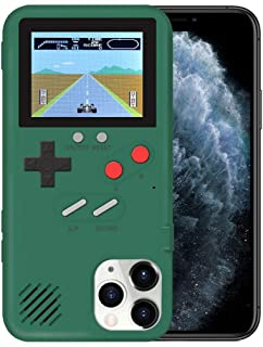 KOBWA Gameboy Case for iPhone,Retro 3D Gameboy Design Style Silicone Cover Case with 36 Small Games,Color Screen,Video Game Cover Case for iPhone 11/11Pro/11Pro,and More (Green, iPhone 11 Pro Max)