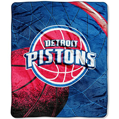 Northwest NBA Detroit Pistons Blanket50x60 Raschel, Team Color, 50'x60'