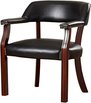 Amazon Com Boss Captain S Chair In Burgundy Vinyl