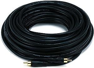 Monoprice 50ft Coaxial Audio/Video RCA Cable M/M RG59U 75ohm (for S/PDIF Digital Coax Subwoofer & Composite Video) Black