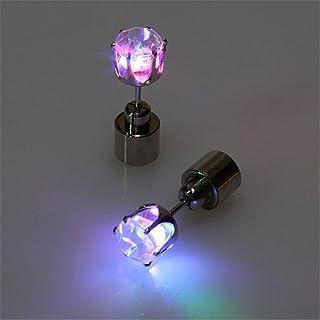 atcket (Multicolor, 1 par) elegante LED HOTcraze-DE Pendientes GL?nzende