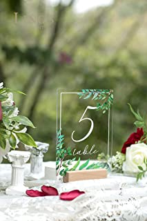 acrylic wedding table numbers