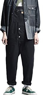 Multi-pocket Tool Overalls Men's American Style Loose Worker Dungarees Casual Jumpsuits for All Seasons