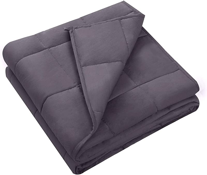 WLIVE 15 Lbs Weighted Blanket Comforter 48 X 72 Perfect For Leisure And Sleep Cotton Heavy Blanket Cover Suitable For Adult From 130 170 Lbs