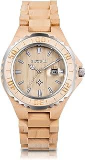 Mens Wooden Watches Date Display Handmade Wooden Analog Quartz Watch Natural Lightweight Wood Wirst Watches