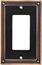 Franklin Brass W35060-VBC-C Classic Beaded Single Decorator Wall Switch Plate/Cover, Bronze with Copper Highlights