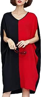ELLAZHU Women Mid-Long Personality Hem Solid Oversize T-Shirt GA200