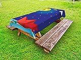ABAKUHAUS Luna Llena Funda Nórdica, Barco Estilo de Origami, de Tela 100% Poliéster con Estampado Digital, 145 cm x 305 cm, Lavanda Oscura Multicolor