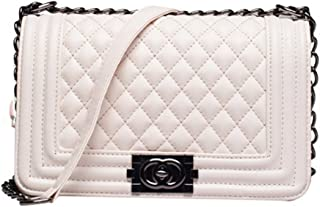 Celebrity Fashion Street Style Quilted Boy Boxy Bag w Chain Shoulder Strap IN HAND bg13