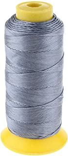 MOPOLIS 200 Meters Bonded Nylon Threads for Leather Stitching Canvas Repair Upholstery   Color - Dark Grey