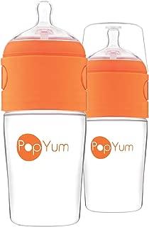 PopYum 9 oz Anti-Colic Formula Making/Mixing/Dispenser Baby Bottles, 2-Pack