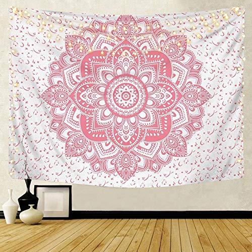 KHKJ Mandala patrón Tapiz Indio decoración para Colgar en la Pared Toalla de Playa Bohemia Manta Fina Yoga Shaw A13 200x180cm