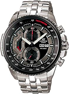 Casio Men's White Dial Stainless Steel Band Watch - EF-558D-7AVDF, Analog