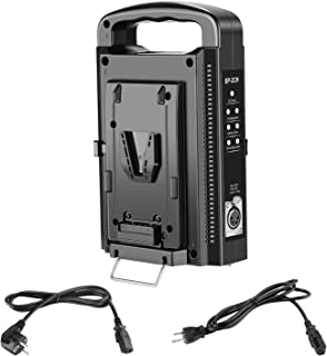 Neewer Dual Channel V-Mount/V Lock Battery Charger with DC 16.8V Power Supply Output Compatible with Any V-Mount Brick (Battery Not Included)