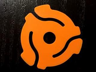 (10 Pack) Orange Plastic 45 RPM 7 Inch Vinyl Record Adapter / Adaptor - 7