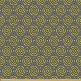 ABAKUHAUS Abstrakt Stoff als Meterware, Floral