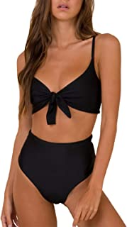 Blooming Jelly Womens High Waisted Bikini Set Tie Knot...