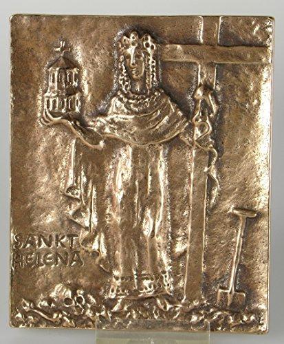 Bronze Relief Heilige Helena - Lena, 13x10 cm