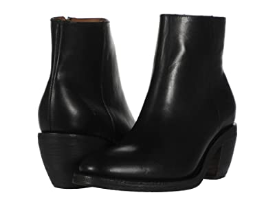 Frye Rosalia Bootie (Black Antique Pull Up) Women