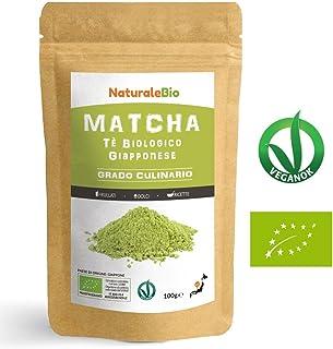 Thé Matcha Bio Japonais de Cuisine [Qualité Culinaire] 100 gr Thé Vert en Poudre 100% Naturel   Thé vert Matcha Produit au Japon Uji, Kyoto   Pour les Pâtisseries, Cookies et dans le Lait