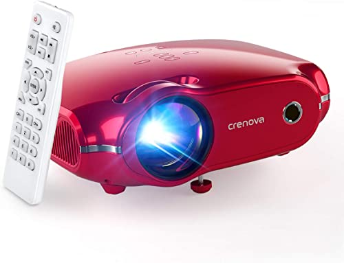 Crenova Mini Projector, 1080P Full HD Supported Video Projector, 4500 Lux LED Movie Projector for Home Theater, Porta...