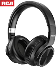 RCA [Upgraded] Active Noise Canceling Headphones, Over Ear Wireless Bluetooth Headset with CVC 6.0 Microphone, 30Hrs Playtime, Foldable Soft Protein Earpads Earphones for Travel Work TV PC Phone