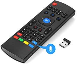 MX3 Fly Mouse Remote Control 2.4G Mini Wireless Fly Mouse Keyboard with Voice and Infrared Switch Play Game Smart Remote Mouse for Android TV Box IPTV HTPC Mini PC Windows Mac OS