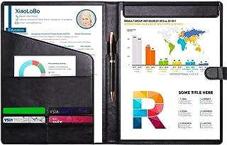 FutureCharger Resume Portfolio Folder - Interview/Legal Document Organizer & Business Card Holder - with Letter-Size Writi...