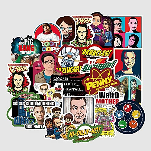 LYDP 50 adesivi per valigia con scritta 'Big Bang Theory'