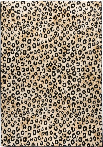 Well Woven Dulcet Leopard Black Ivory Animal Print Area Rug 3'3'' X 5'