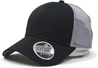 b015ebe451296 Vintage Year Plain Cotton Twill Mesh Adjustable Snapback Low Profile  Baseball Cap