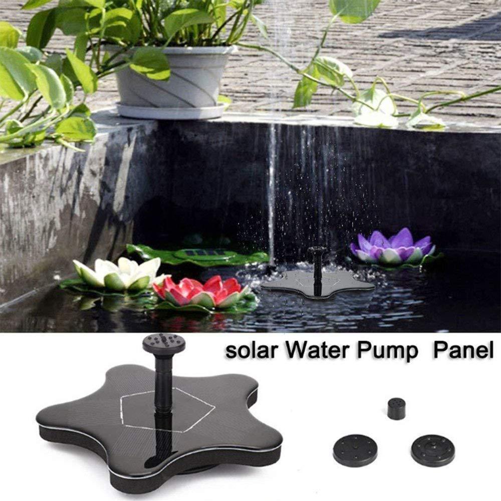 YANDN Fuente Solar De 1.4KW Piscina Exterior Fuente Acuática Fuente Miniatura Flotante, Adecuada para Estanque De Acuario, Piscina, Decoración De Jardín, Envíe 4 Boquillas: Amazon.es: Deportes y aire libre