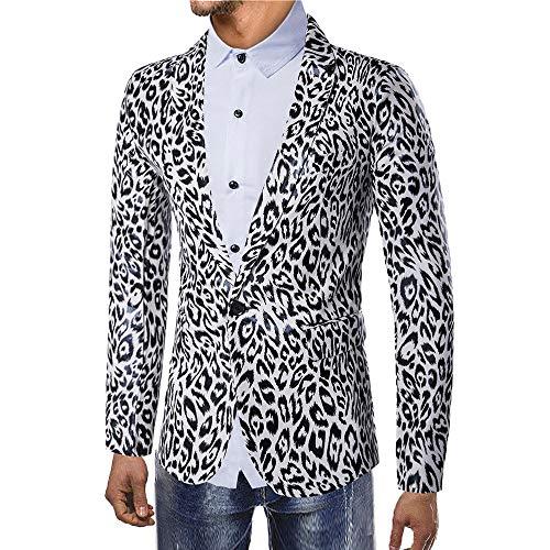 Herren Anzugjacke Blazer,New Mode Männer Herbst Winter Leopard Gedruckte Langarm Mantel Outwear Top Bluse Cardigan Jacket Mantel Kostüm Business Slim Fit Party Herrenanzug Sakko